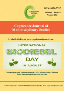 August 2021 Cover - Cognizance Journal of Multidisciplinary Studies copy