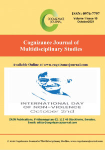 October 2021 Cover - Cognizance Journal of Multidisciplinary Studies