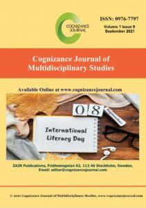 September 2021 Cover - Cognizance Journal of Multidisciplinary Studies